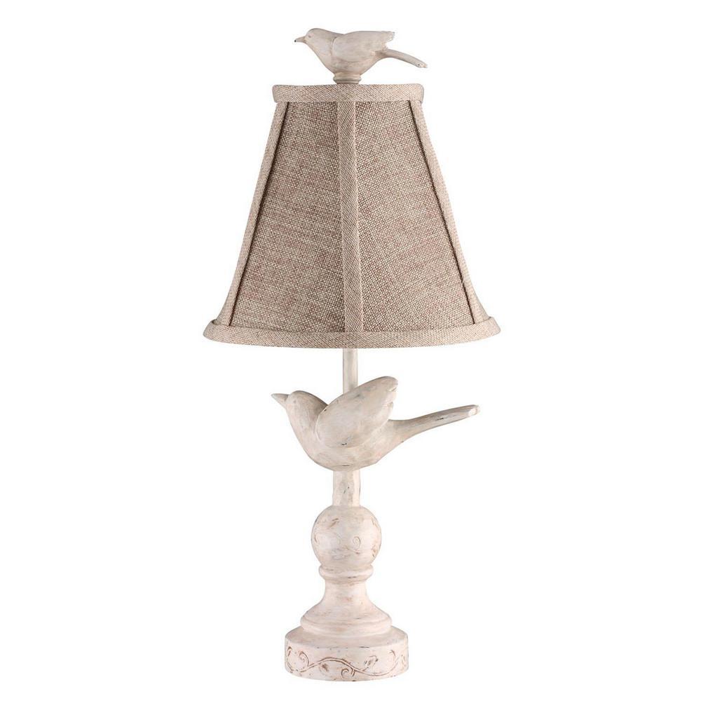 15 in. White Novelty Lamp