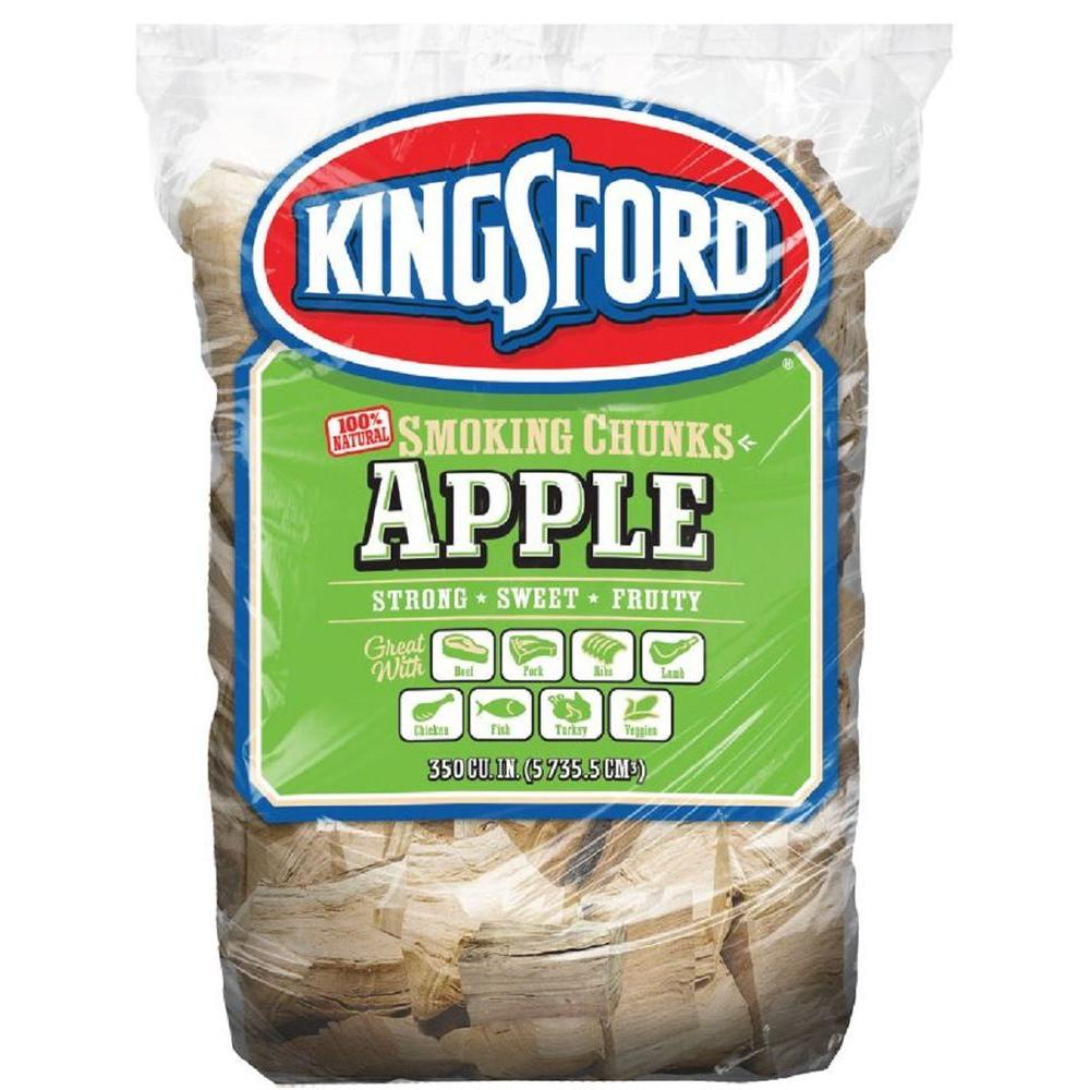 Kingsford 350cu In Bbq Apple Wood Chunks 100524113 The Home Depot
