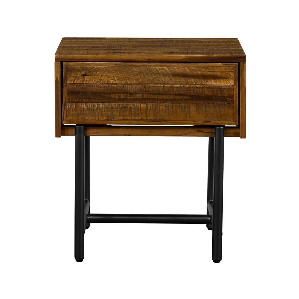 Cusco Rustic Acacia Single Drawer Nightstand