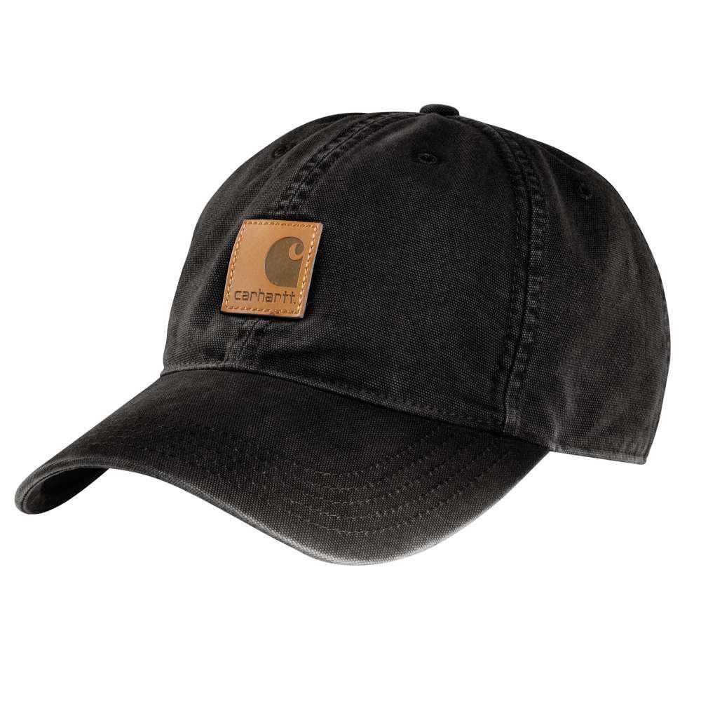Men's OFA Black Cotton Cap Headwear