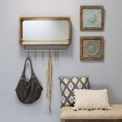 Madison Mirror with Shelf and Hooks