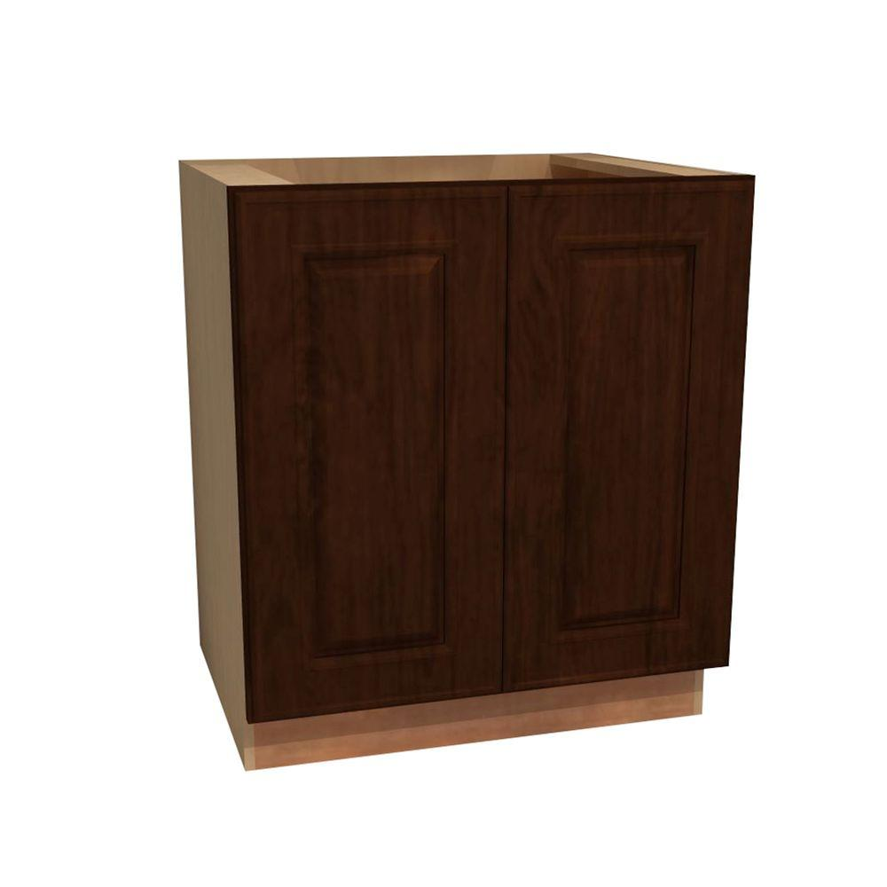 Home Decorators Collection Roxbury Assembled 33x34.5x24 in. Double Door Base Kitchen Cabinet in Manganite