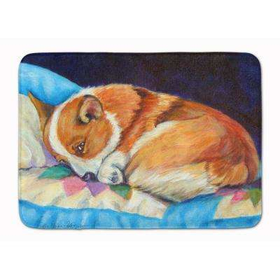 19 in. x 27 in. Corgi Machine Washable Memory Foam Mat