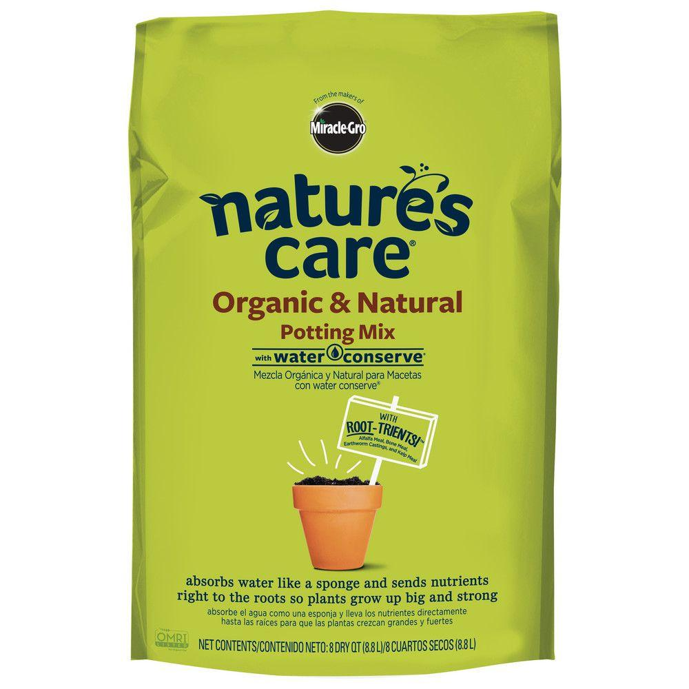 Miracle Gro Nature 39 S Care 8 Qt Organic Potting Mix 71678120 The Home Depot