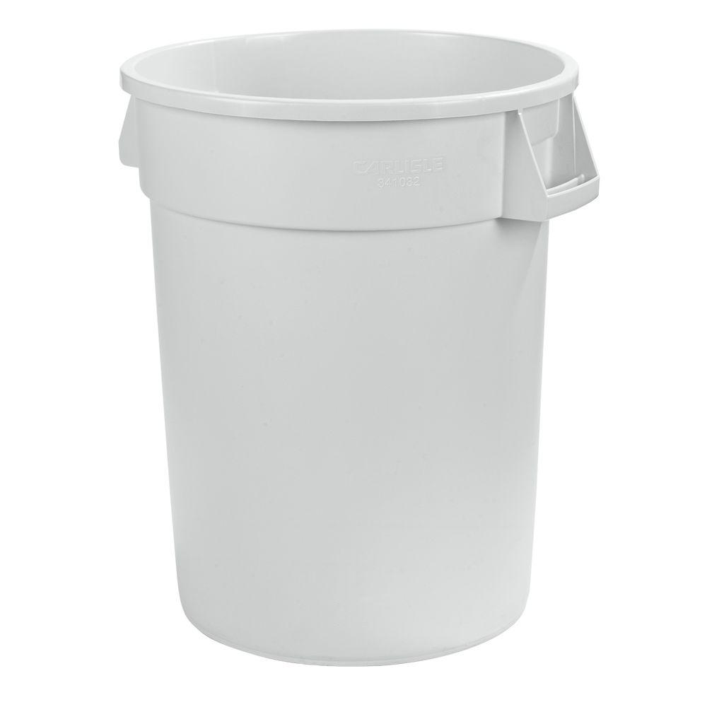 White Round Trash Can 2 Pack