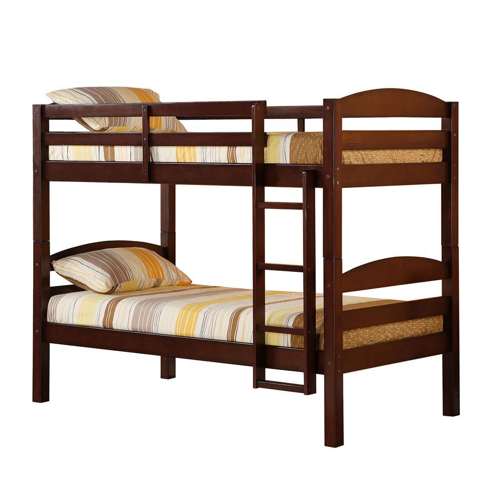 Walker Edison Furniture Company Carolina Twin Over Twin Wood Bunk Bed