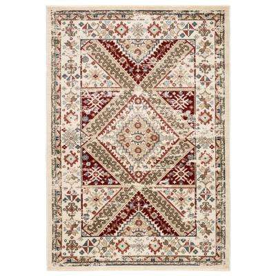 Maizie Ivory 2 ft. 3 in. x 8 ft. Traditional Runner Rug