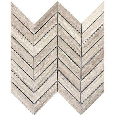 Marble Cream Honed 12.01 in. x 12.05 in. x 10 mm Limestone Mesh-Mounted Mosaic Tile (1 sq. ft.)