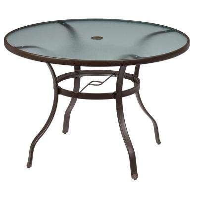 Mix and Match Round Metal Outdoor Dining Table