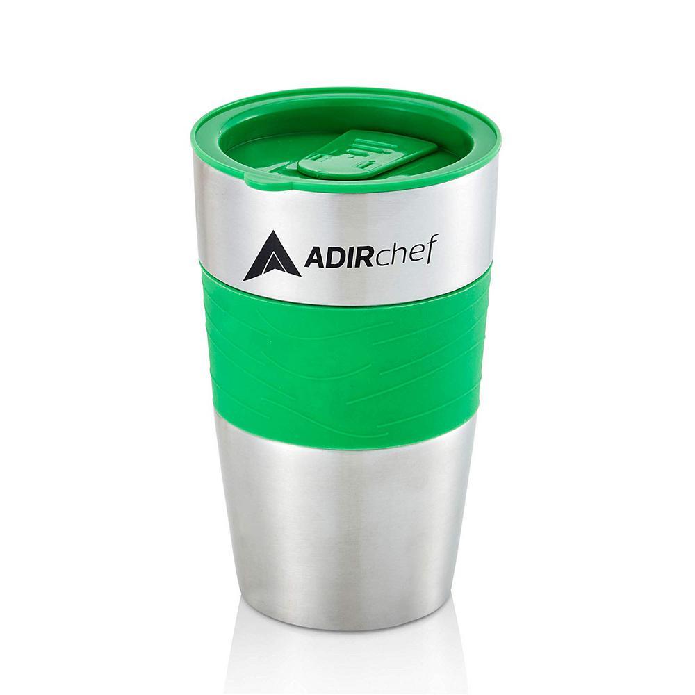 15 oz. Green Stainless Steel Travel Mug (2-Pack)