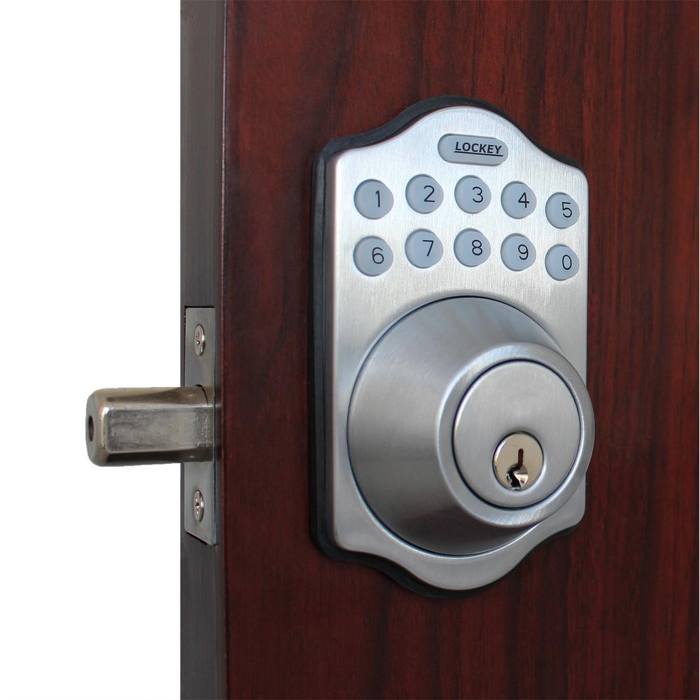 E-Digital E-910 Satin Chrome Single Cylinder Electronic Deadbolt Keypad Lock