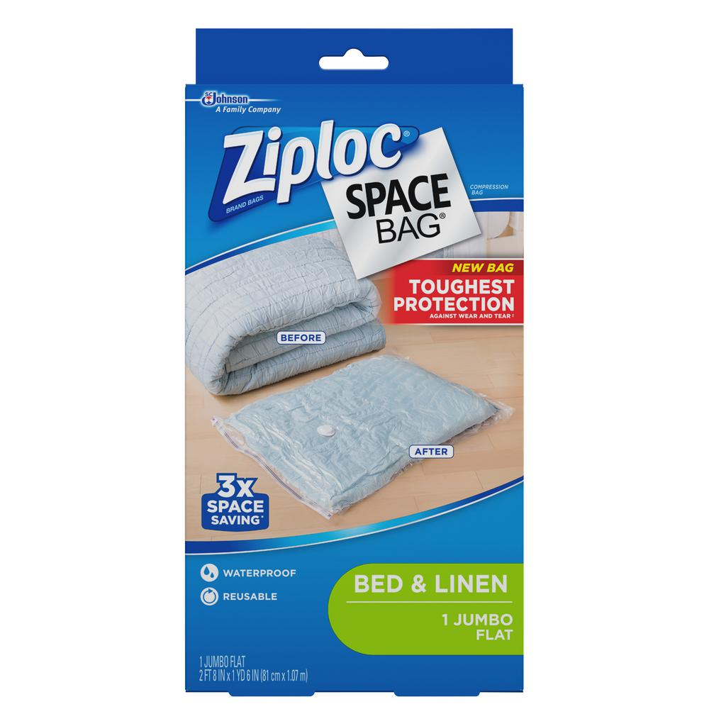 Ziploc Space Bags Jumbo Plastic Flat Bag 690908 The Home