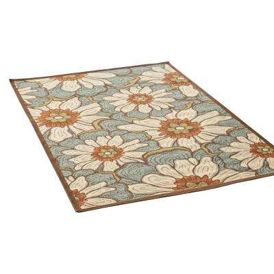 Melody Multi-Colored 5 ft. x 8 ft. Floral Indoor/Outdoor Area Rug