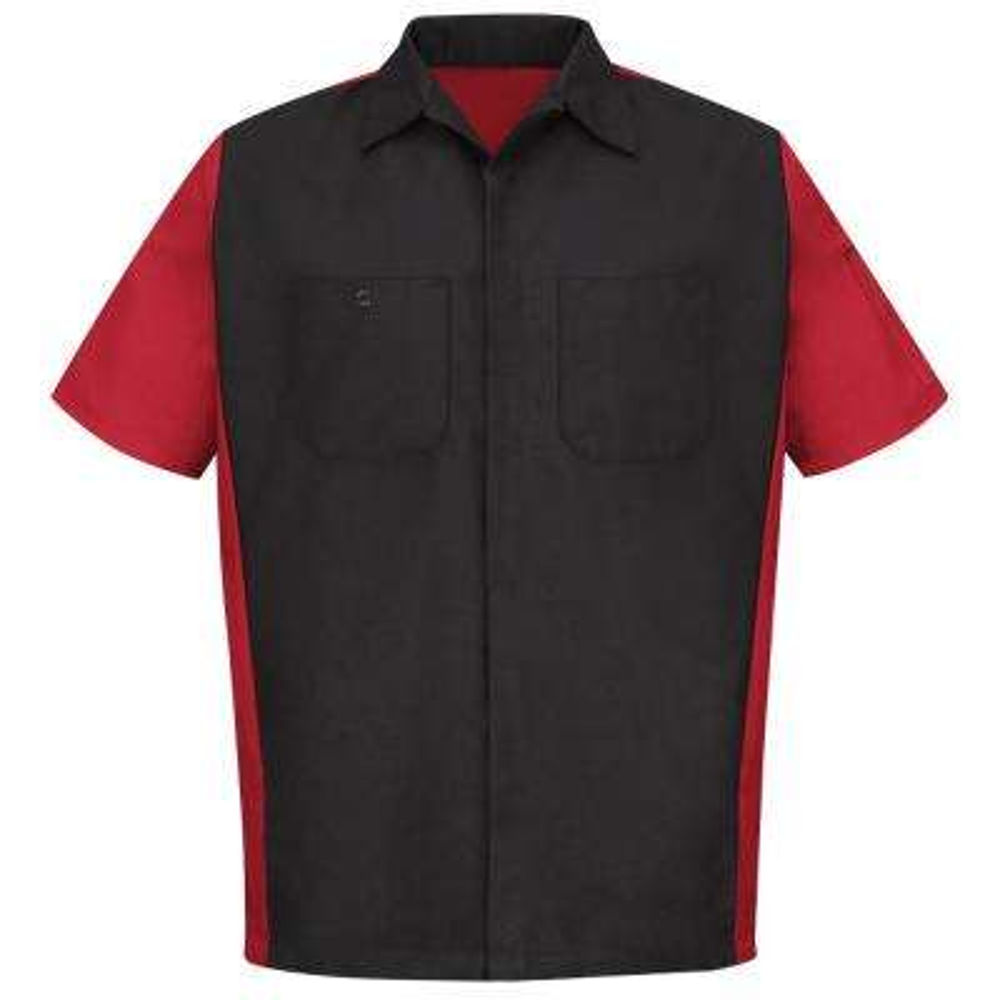 Men's X-Large Black/Red Crew Shirt