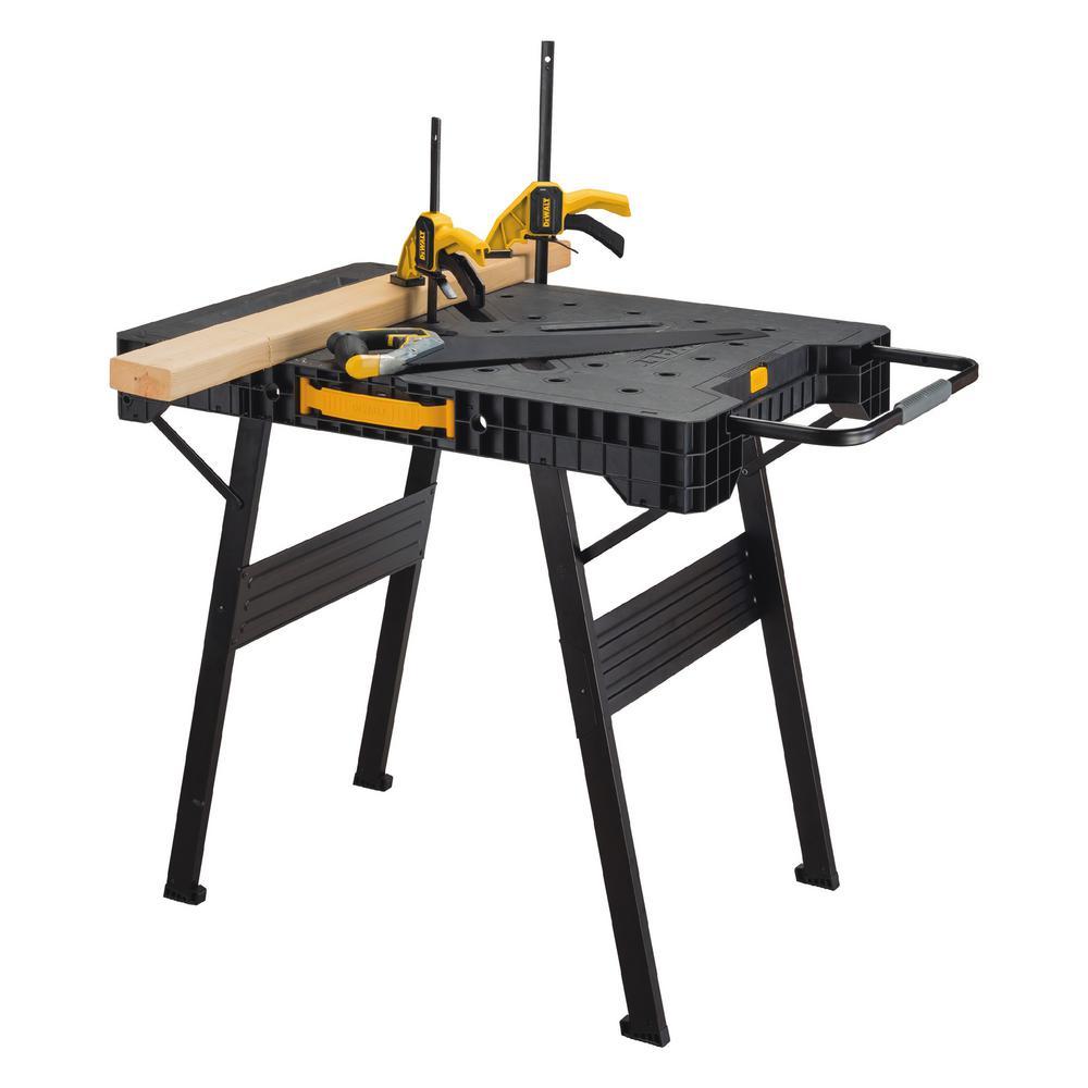 dewalt express folding workbench table bench metal legs light large clamping 76174810820 ebay. Black Bedroom Furniture Sets. Home Design Ideas