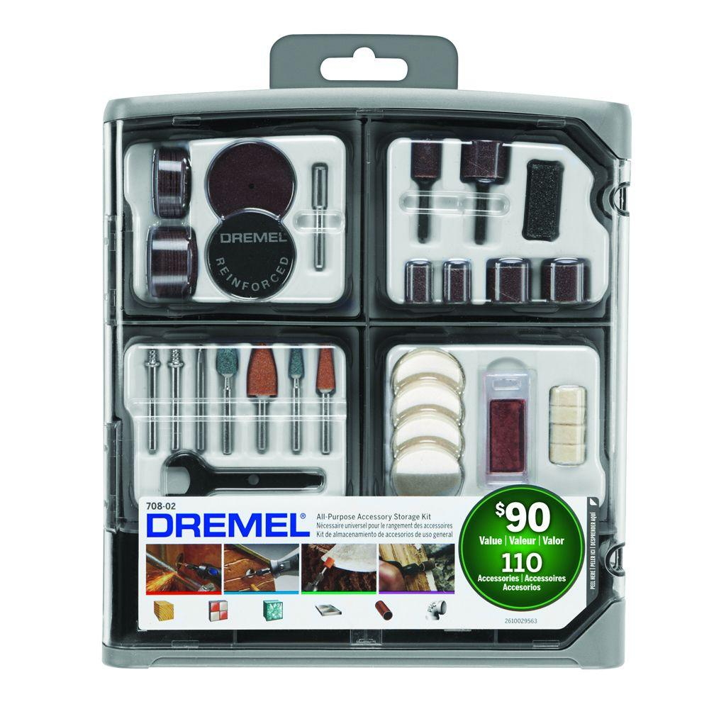 Rotary Tool Accessory Kit (108-Piece + 2 Bonus Pieces)