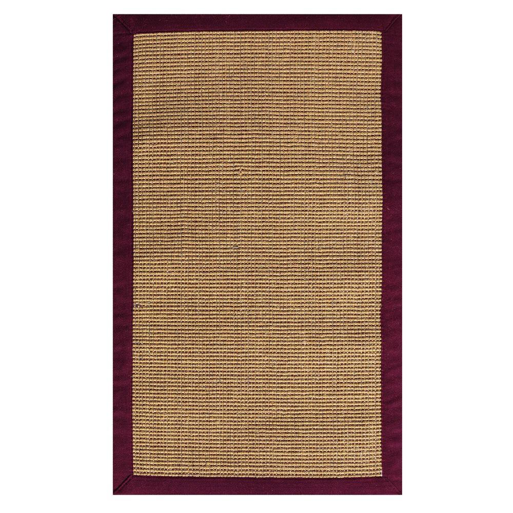 Home Decorators Collection Rio Sisal Amber/Burgundy 9 ft. x 12 ft. Area Rug