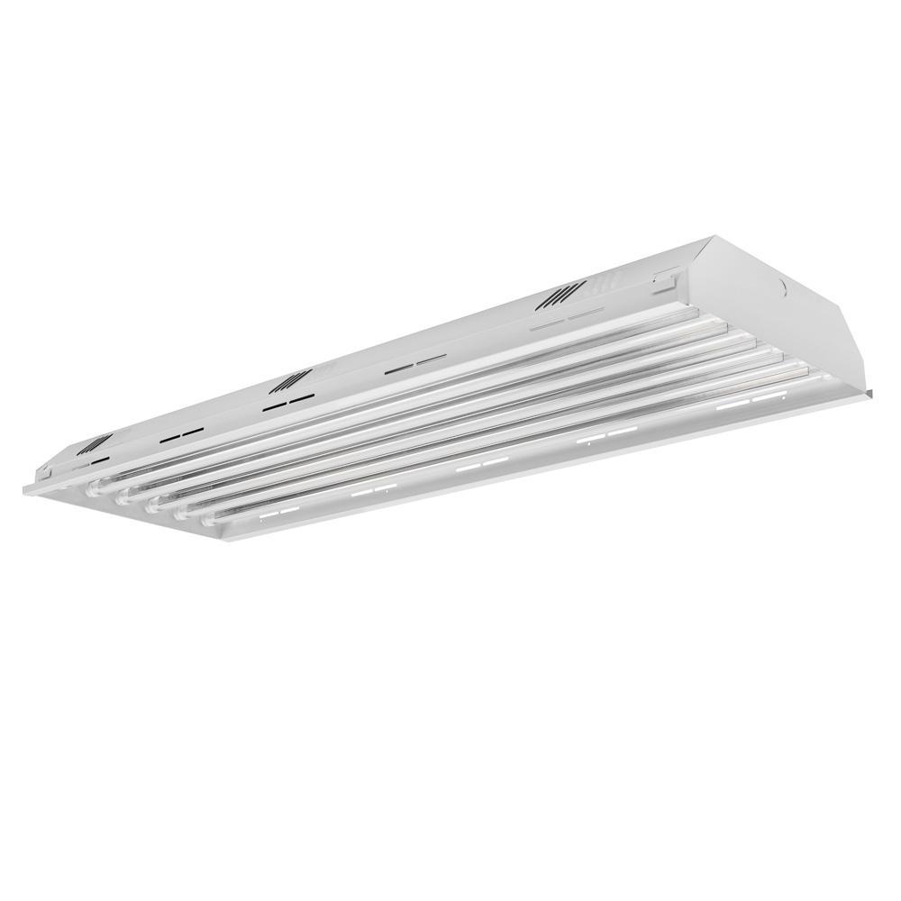 4 ft. 6-Light White LED High Bay 4000K (LED Tubes Included)