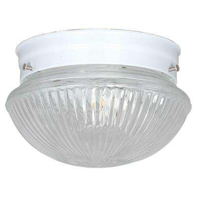 1-Light White Flush Mount