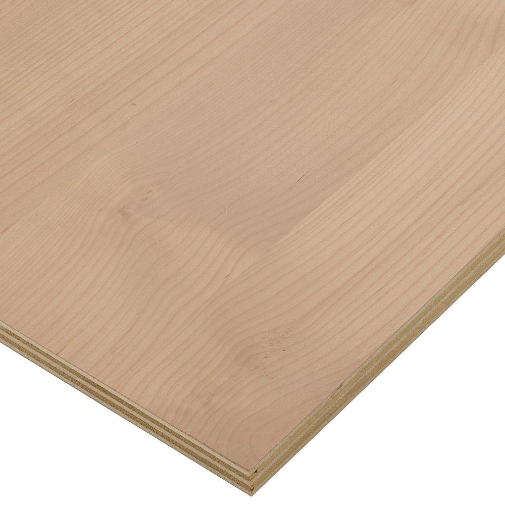 Columbia Forest Products 3/4 in. x 2 ft. x 8 ft. PureBond Alder Plywood Project Panel (Free Custom Cut Available)