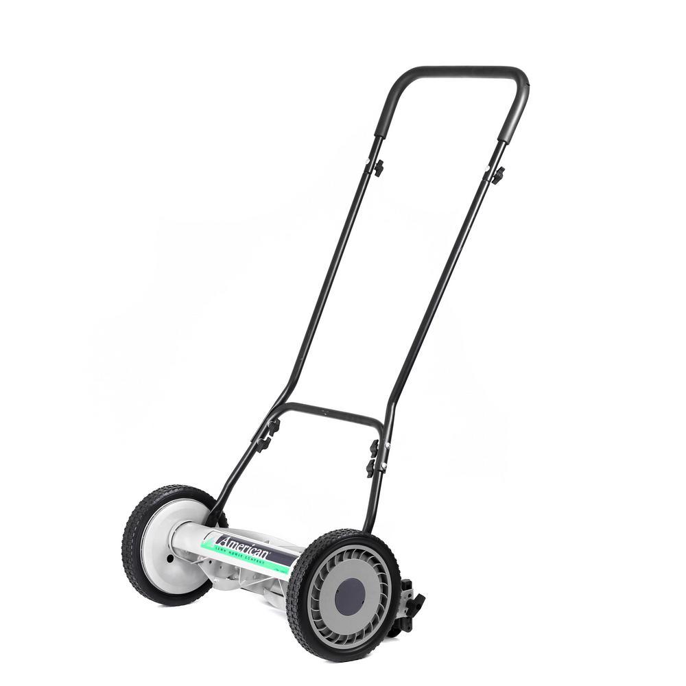 18 in. Manual Walk Behind Reel Lawn Mower