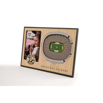 NFL Green Bay Packers Team Colored 3D StadiumView with 4 in. x 6 in. Picture Frame
