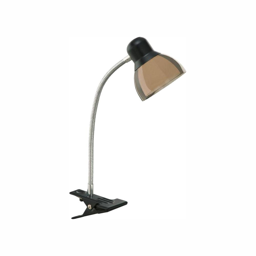 Hampton Bay 14 In Black Integrated Led Clip Lamp