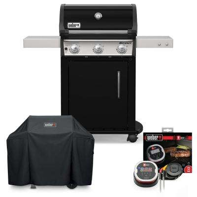 Spirit E-315 Liquid Propane Gas Grill Combo with Cover and iGrill 2