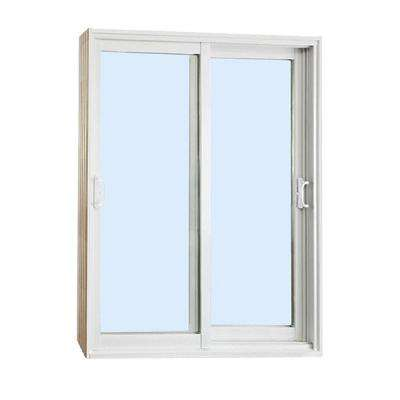 60 in. x 80 in. Double Sliding Patio Door Clear Low-E