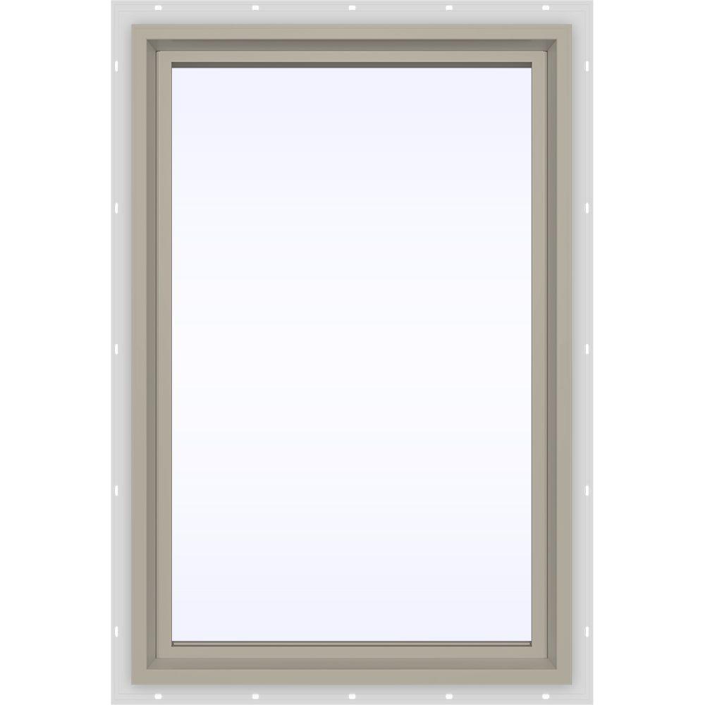 JELD-WEN 23.5 in. x 29.5 in. V-4500 Series Fixed Picture Vinyl Window in Tan