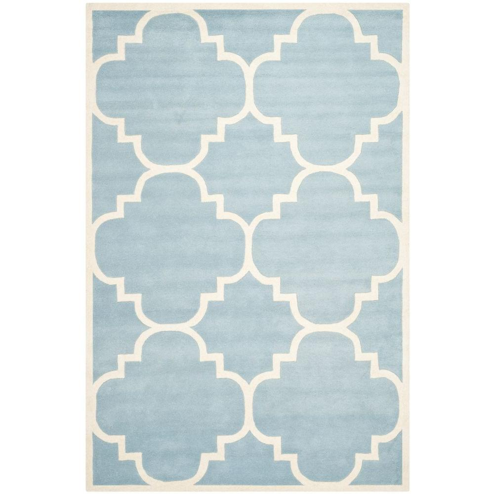 Safavieh Chatham Blue/Ivory 6 ft. x 9 ft. Area Rug