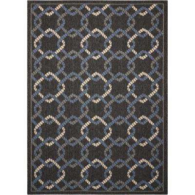 Caribbean Charcoal 5 ft. x 7 ft. Indoor/Outdoor Area Rug