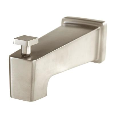 Kubos 5.75 in. Bathroom Tub Spout with Diverter in Brushed Nickel