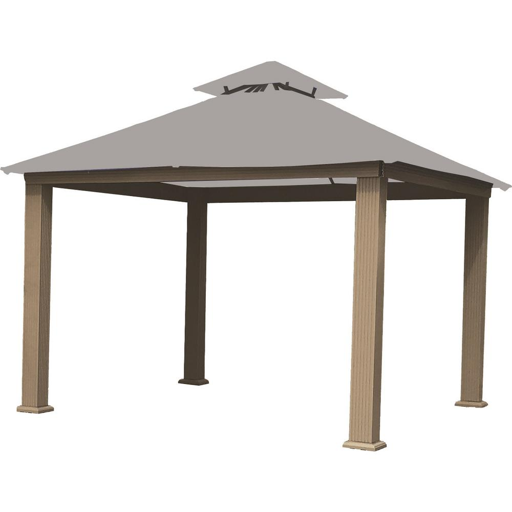 12 ft. x 12 ft. Cadet Grey Gazebo