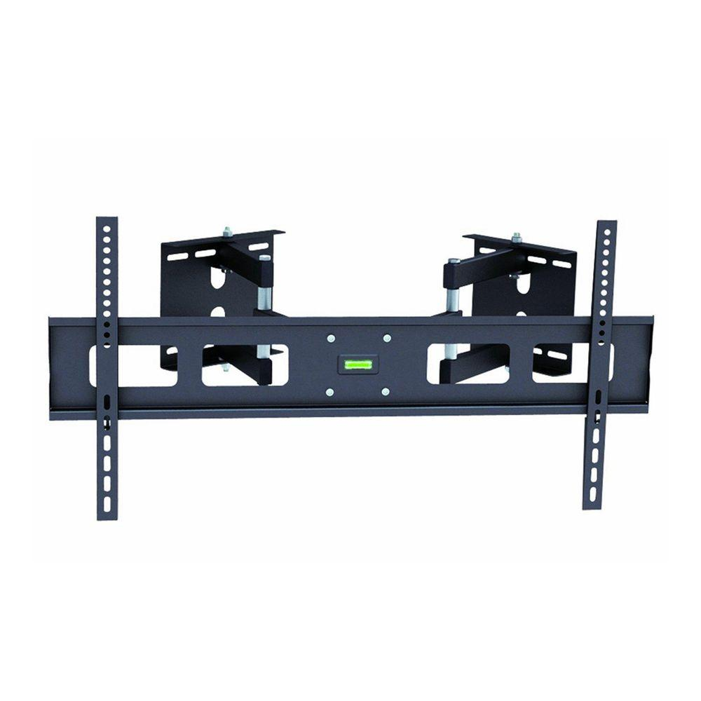 tygerclaw corner full motion wall mount for 37 in 63 in flat panel tv lcd3408blk the home. Black Bedroom Furniture Sets. Home Design Ideas