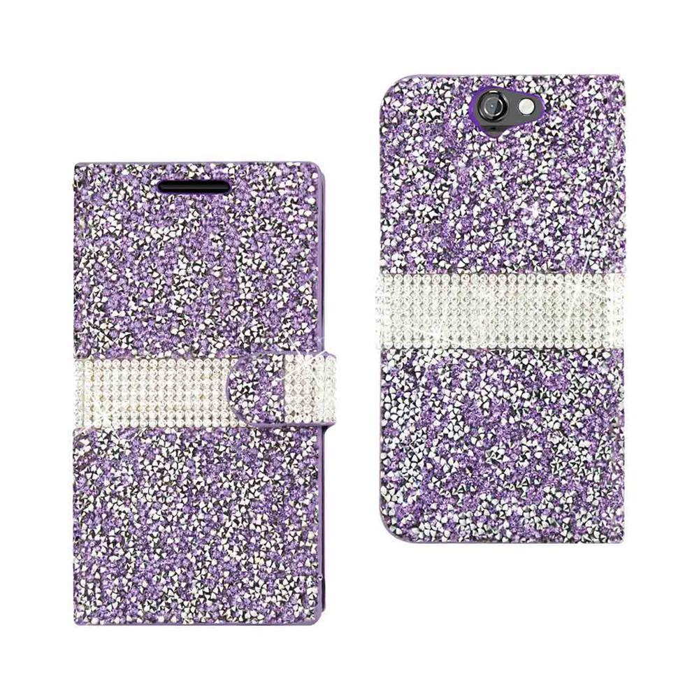 REIKO ZTE One A9 Folio Case in Purple