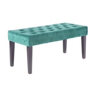 Velvet Tufted Green Modern Ottoman Coffee Table Bench