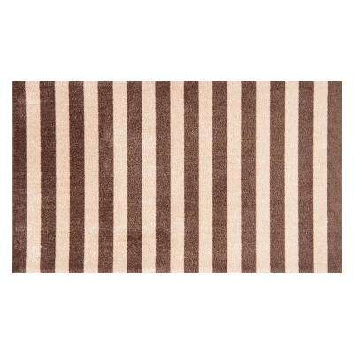 In-Home Washable/Non-Slip Cabana Taupe 2 ft. 3 in. x 3 ft. 11 in. Area Rug & Mat