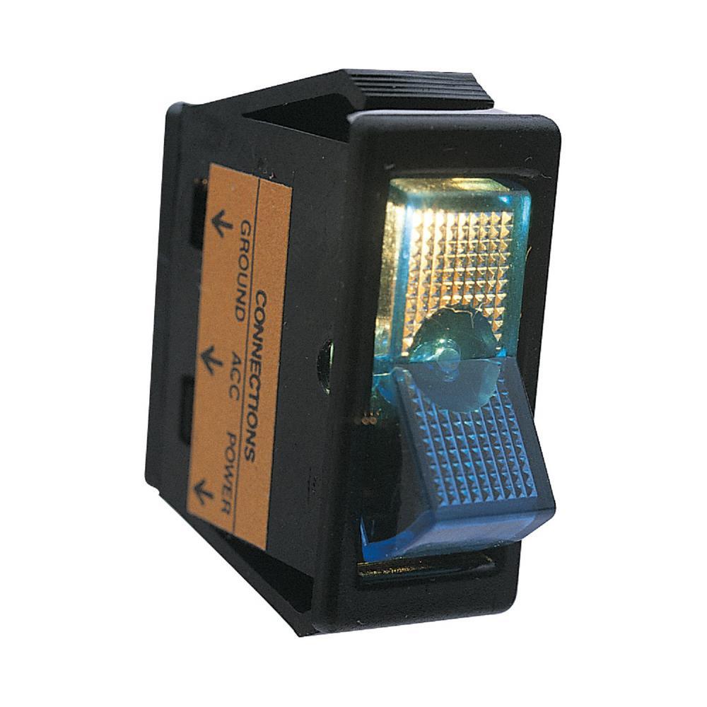 Calterm Illuminated 12-Volt DC/20 Amp Rocker Switch, Blue ...