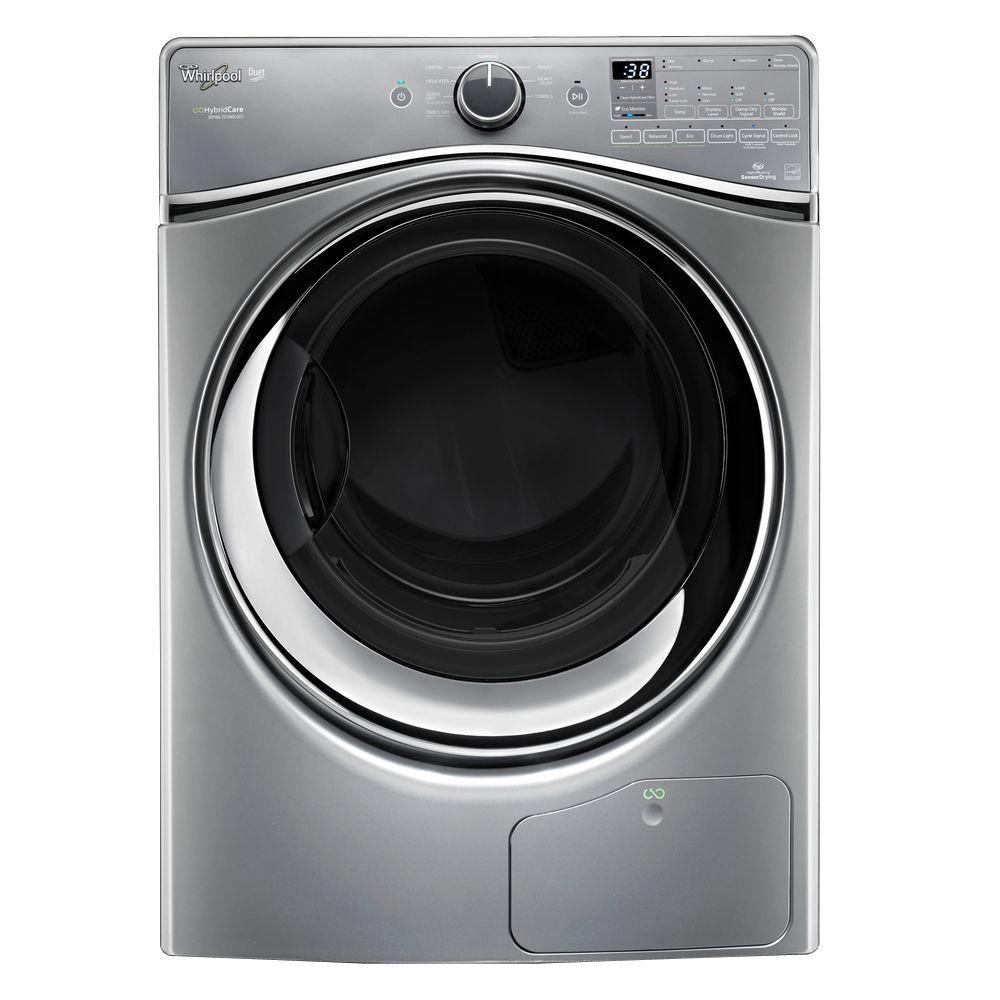 Whirlpool 7.3 cu. ft. Ventless Electric Dryer with Heat Pump Technology in Chrome Shadow, ENERGY STAR