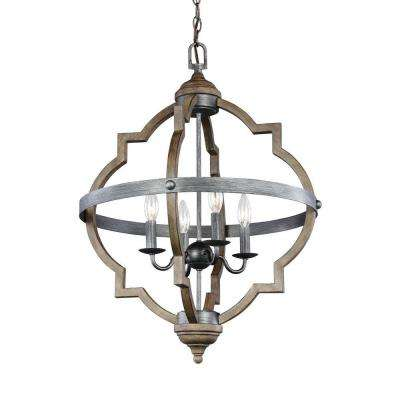 Socorro 4-Light Stardust Hall-Foyer Pendant