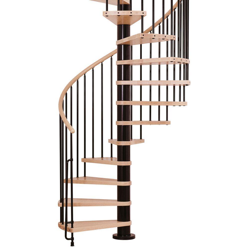 Phoenix 55 in. Black Spiral Staircase Kit