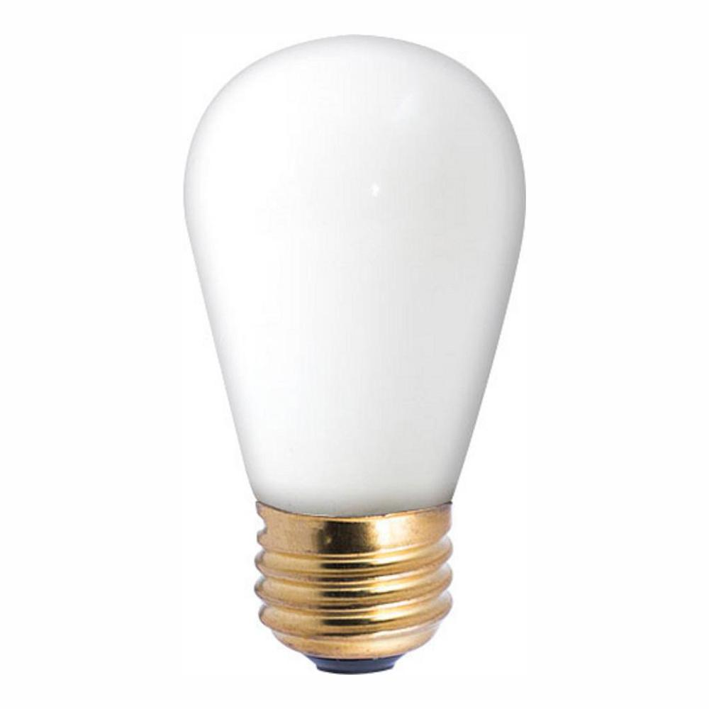 11-Watt S14 White Dimmable Warm White Light Incandescent Light Bulb (25-Pack)