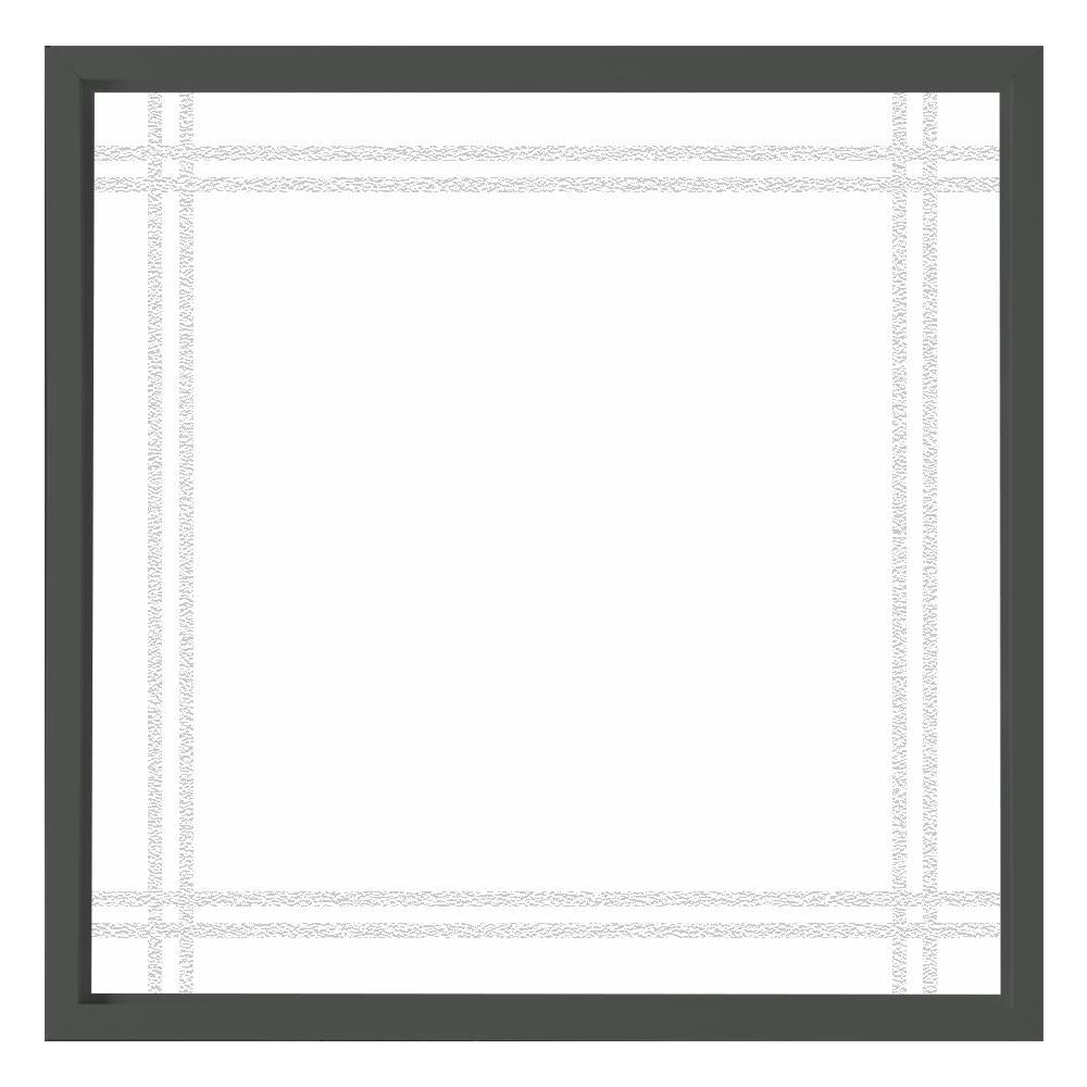 Hy-Lite 47.5 in. x 47.5 in. Prairie Decorative Glass Picture Vinyl Window - Bronze