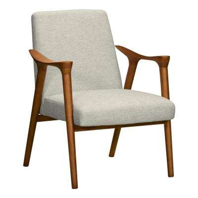Nathan Beige Fabric Accent Chair