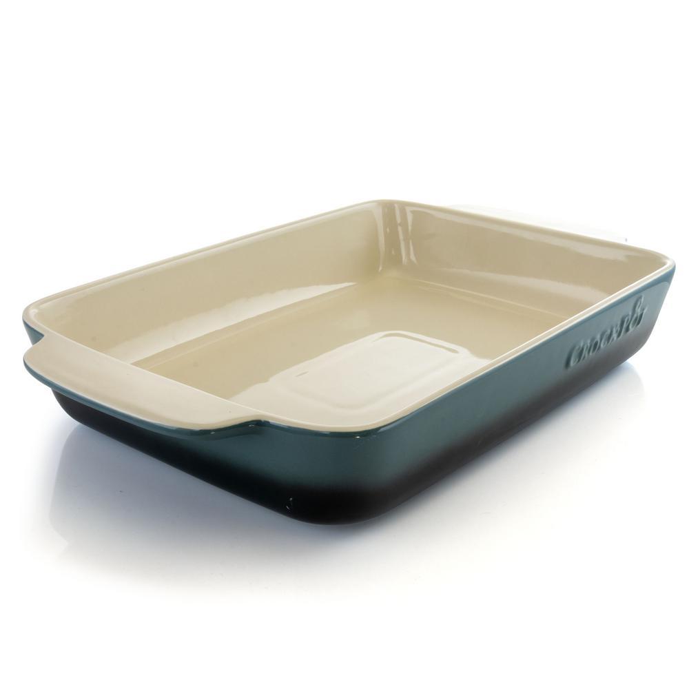 Artisan 4 Qt. Blue Stoneware Bake Pan