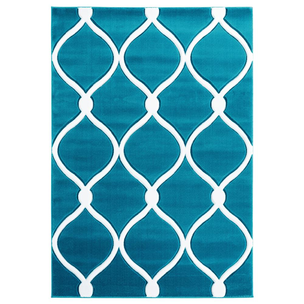 United Weavers Bristol Rodanthe Turquoise 2 ft. 7 in. x 4 ft. 2 in. Area Rug