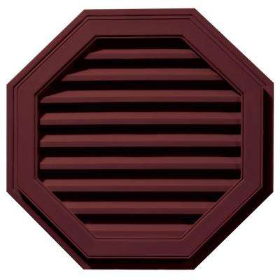 27 in. Octagon Gable Vent in Wineberry