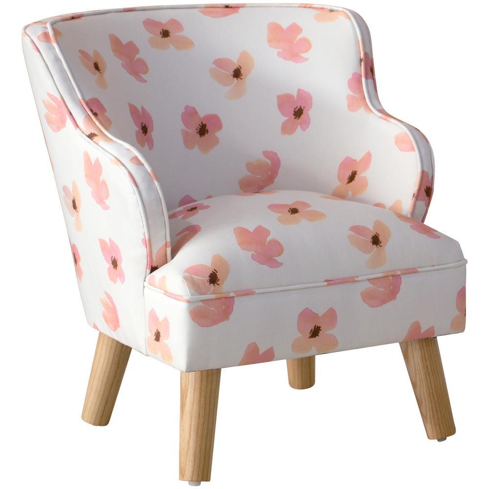 Floating Petals Pink Kid's Modern Chair