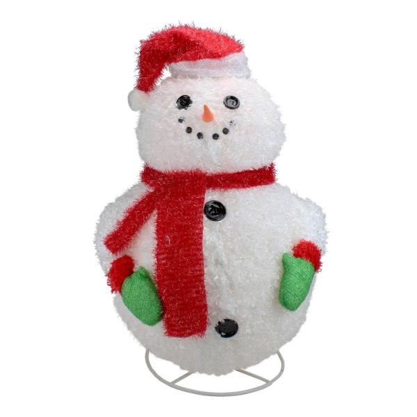 Penn 24 In Lighted 3 D Jolly Winter Snowman Collapsible Outdoor Christmas Decoration 31464833 The Home Depot